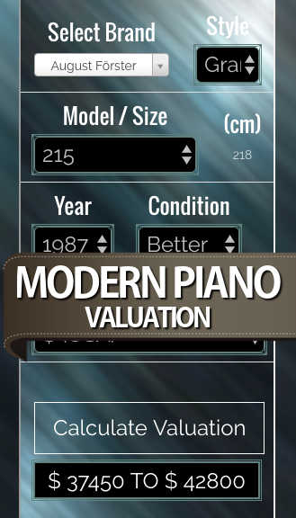 Modern Piano Valuation